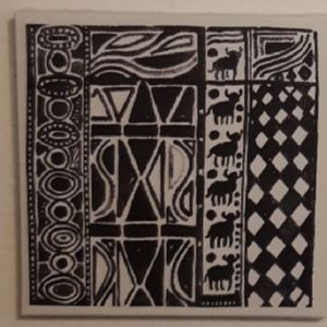 FOR paz_y_amor's Bull Tribal print wall hangings